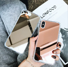 Aluminum Mirror Back Bumper Case Protective Covers For iPhone Xs Max XR 7 8 Plus