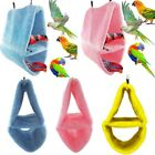 Plush Bird Parrot Snuggle Hammock Cage Hanging Cave Happy Hut Tent Bed Bunk Toy