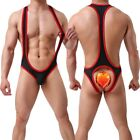 Sexy Mens  Bodysuit Leotard Tank Top Briefs Wrestling Singlet Jumpsuit Thong Lot