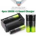 5800mAh 3.7V Battery Charger 18650 Rechargeable Li-ion For T6 Flashlight Battery