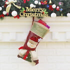 Merry Christmas Hanging Stockings Gift Candy Bag Christmas Decoartions F6Y8