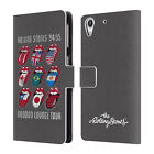 OFFICIAL THE ROLLING STONES KEY ART LEATHER BOOK WALLET CASE FOR HTC PHONES 2