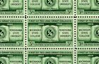1955 MICHIGAN STATE - PENN STATE #1065 Full Mint Sheet of 50 Postage Stamps