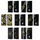 NFL NEW ORLEANS SAINTS LOGO LEATHER BOOK WALLET CASE FOR APPLE iPHONE PHONES