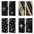 NFL 2017/18 NEW ORLEANS SAINTS LEATHER BOOK CASE FOR APPLE iPHONE PHONES
