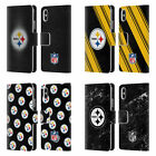 NFL 2017/18 PITTSBURGH STEELERS LEATHER BOOK CASE FOR APPLE iPHONE PHONES