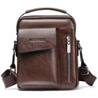 Vintage Men's Leather Casual Messenger Bag Cross-body Tote Handbag Shoulder Bag