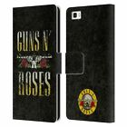 OFFICIAL GUNS N' ROSES KEY ART LEATHER BOOK WALLET CASE FOR HUAWEI PHONES 2