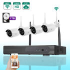 4-Channe HDMI/VGA NVR Outdoor WIFI IR-CUT Bullet Camera Home Security System 1TB