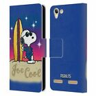 OFFICIAL PEANUTS SNOOPY BOARDWALK AIRBRUSH LEATHER BOOK CASE FOR LENOVO PHONES