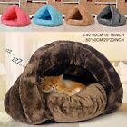 Pet Warm Nest Cat Dog House Kennel Puppy Cave Sleeping Bed Super Soft Mat Pad