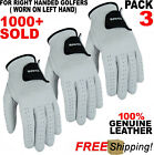 Pack Of 3 Brand New Golf Glove 100 Cabretta Leather Free Fast Shipping
