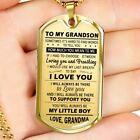 To My Grandson Dog Tag Military From Grandma - Grandmother Grandson Necklace