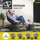 Gardeon Outdoor Lounge Setting Furniture Papasan Chairs Table Wicker Sofa Chair