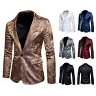 Slim Fit Herren Bunter Sakko Muster Casual Blazer Jacke Hochzeit Party
