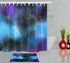 Nebula Galaxy Starry Star Waterproof Fabric Shower Curtain Set For Bathroom 72in