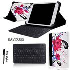 LEATHER STAND COVER CASE + Bluetooth Keyboard For Various Excelvan Tablet + Pen