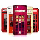 HEAD CASE DESIGNS TELEPHONE BOX BLACK BUMPER SLIDER CASE FOR APPLE iPHONE PHONES