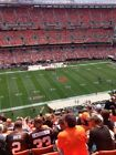 CLEVELAND BROWNS VS CAROLINA PANTHERS 2 Tickets 12/9 Section 531 Row 13