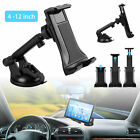 """360°Universal Windshield Car Mount Holder Stand for Phone & 4-12"""" Tablets Pad"""