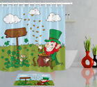 72in Long Waterproof Fabric Shower Curtain Liner Ireland St. Patrick's Day Money
