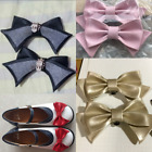 1 Pair Lolita Shoe Clips Charms Mary Jane Shoes Bow PU Leather High Heels Decor