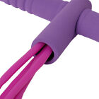 US Foot Pedal Pull Rope Resistance Exercise 4-Tube Yoga Equipment Sit-up Fitness image