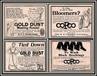 AD LOT OF 3 1894 - 96 ADS GOLD DUST FAIRBANKS CO BLOOMERS POEM ROPED TO BUCKET