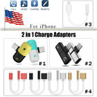 For iPhone X 7 8 Plus Audio Earphone Jack AUX Cable Charger Adapter Converter US