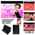 BETTY BOOP FAUX LEATHER PERSONALISED iPAD CASE - All Models & Gens £18.5 GBP on eBay
