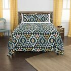 Maddux Place Navy Hand Quilted Cotton Reversible 3-Piece Quilt Set image