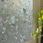 US Thicken Window Film Bathroom Door Glass Opaque Frosted Sticker Self-adhesive