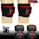 2X Gym Weight lifting Knee Wraps Straps Powerlifting Weightlifting Sleeves MRX