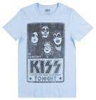 KISS CONCERT POSTER T-SHIRT LIGHT BLUE ROCK MUSIC TEE MENS EPIC RIGHTS TOP image