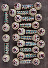 French A Porquier Quimper 12 pc Knive Rest Signed Majolica 1900