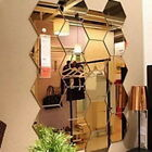12pcs 3d Mirror Hexagon Vinyl Removable Wall Sticker Decal Home Room Decor Art