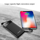Slim Power Bank 50000mAh 3 USB LED Metal External Battery Charger For Cell Phone