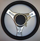 SCARAB%2FGLASTRON+ANODIZED+ALUMINUM+%26+LEATHER+STEERING+WHEEL+040%2D0829