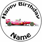 "Personalised Birthday Fomula 1 - Ferrari Round 8"" Easy Precut Icing Cake Topper"