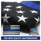 Blue Line American Police Flag 3x5 ft - Embroidered Stars and Sewn Stripes