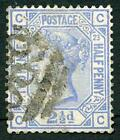 SG157 2 1/2d Blue Wmk Imperial Crown Plate 23 Fine Used