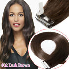 "12""-24"" Tape Glue in 100% Remy Human Hair Extensions 60PCS 150G Bleach White MF6"