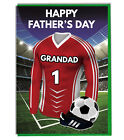 Fathers Day Football Card For A Grandad - Red and White Team Shirt / Colours