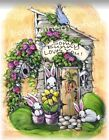 Some Bunny Loves You Pink Roses Sunflowers Rabbit Quality Wall Art Print USA