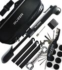 32 pc BIKE PUMP multifunction tool set repair tyre tire set innertube bag kit