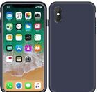 Case for iPhone Xs iPhone X Liquid Silicone Full Protection Rubber Gel Cover