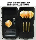Viper Darts Elite 25 gm Steel Tip Dart Set-Beer Mug Flights-Optional Case-Shafts