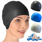 Swimming Cap Waterproof Silicone Swim Pool Hat for Adult Men Long Hair Women LC