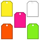 50 Pack Jumbo Car Dealer Blank with Border Mirror Hang Tags You Choose Color