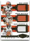 Chubb/Mayfield/Johnson 2018 Plates & Patches TRIPLE JERSEY 48/99 Cleveland Brown